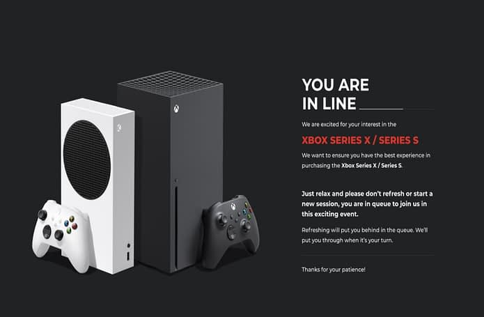 GameStop featured this page when trying to pre-order an Xbox Series X
