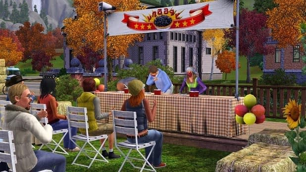 Sims 3 pie eating