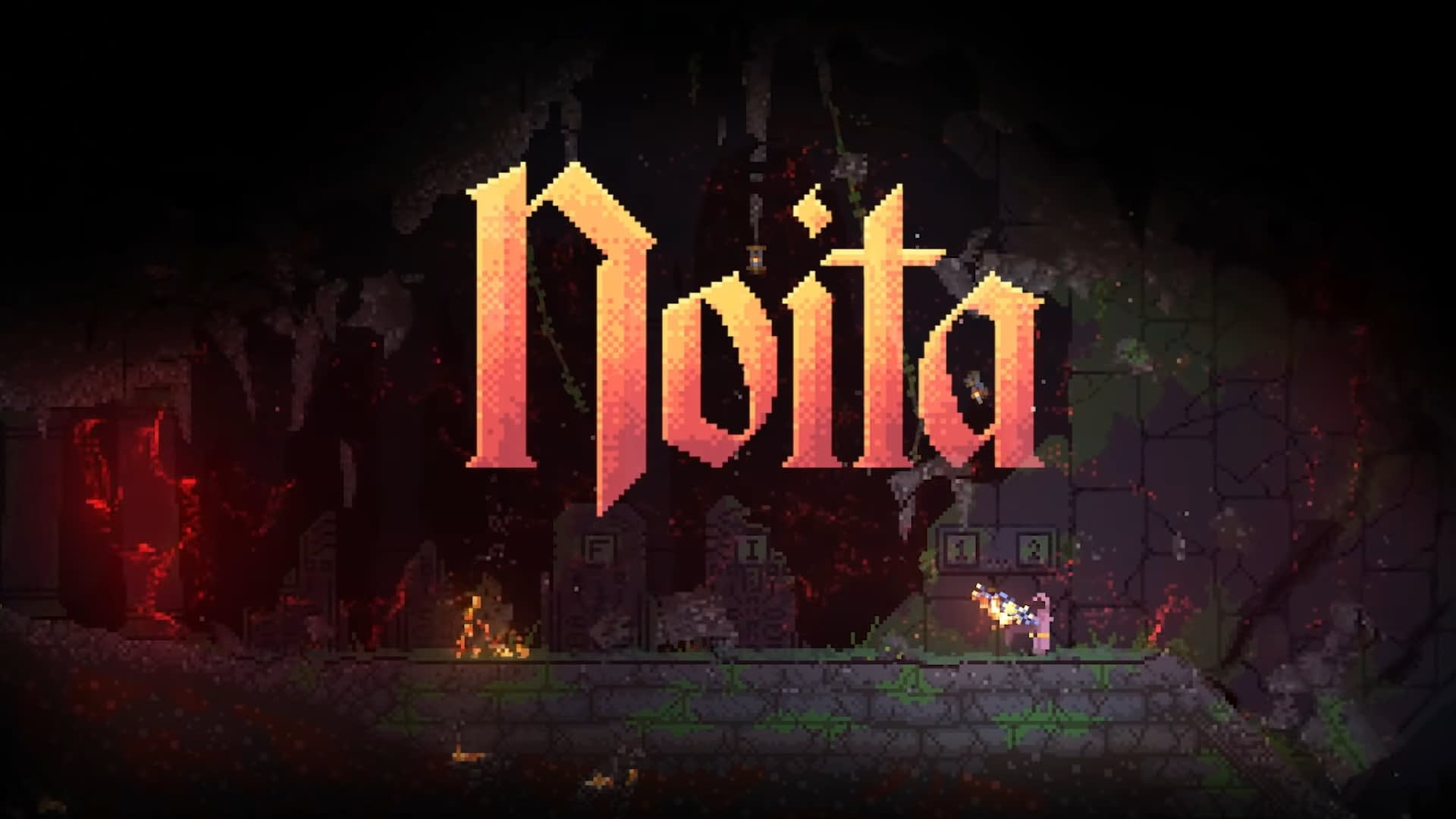 Action-Roguelike Noita takes its physics sandbox out of Early Access